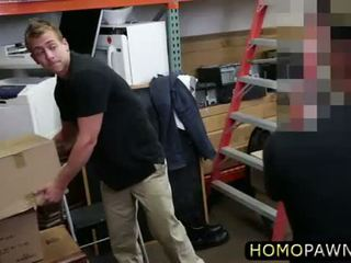 Real guy takes two men cock