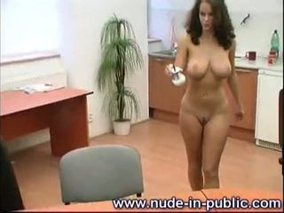 naked, office, public