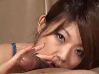 Gorgeous Asian girl Reiko Yabuki gives...
