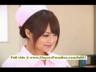 Akiho Yoshizawa Sexy Asian Nurse Enjoys Teasing The Doctor