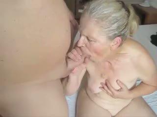 babička, výstřik, cumshot