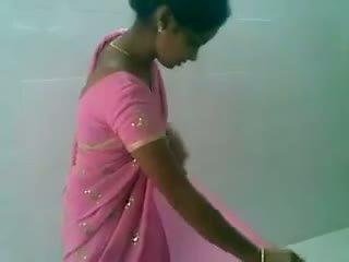 Telugu rózsaszín saree