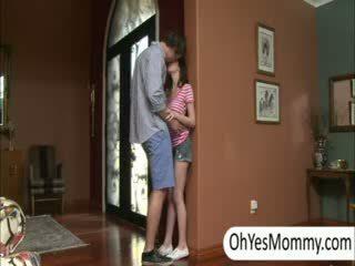 Victoria with boyfriend gets kejiret by nakal step mom alexandra