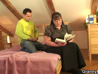 He Slams Her Fat Old Pussy, Free Mature Porn 7b