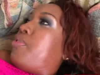 Big bootied black babe gets hot fucking from lucky guy