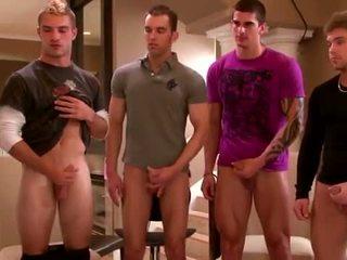 Sexy gruppe amateurs onanering