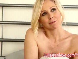 Milf julia ann tries pe leneriej & masturbates!