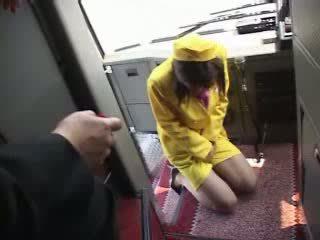 porno, japonais, bus