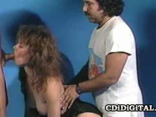 Aja Retro Threesome Photo Shoot Sex