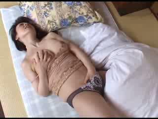 Japanese Mom Masturbating After Watchi...