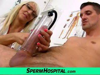 Hot Blonde Mom Marketa CFNM Sex with Patient: Free Porn 0f