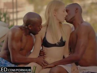BLACKED Alexa Grace First Interracial Threesome