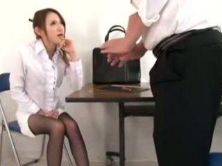可爱 老师 masturbation 和 脚功封口, 色情 d1
