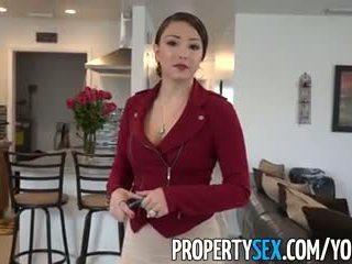 Propertysex - stor röv latina verklig estate agent tricked till amatör kön video-