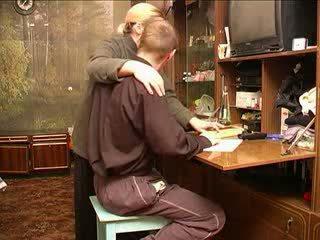 Ruský maminka s schoolboy