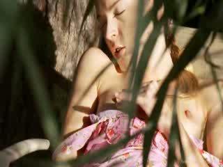 Ultra szexi kert masturbation
