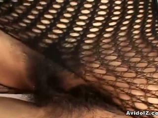 japansk, fishnet, bodystocking