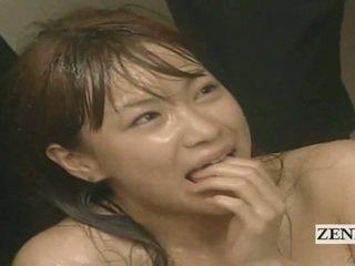 Subtitled enf cmnf gal japansk sæd spattered lærer