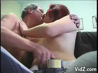 Adorable model rides on daddy's stiff rod