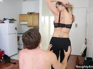 Brandi Love fuck with her son's roommate
