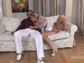 Jock Engulfing Paramour Cherry Jul Enjoys The Beefy Nob SliDing In And Out Her Mouth
