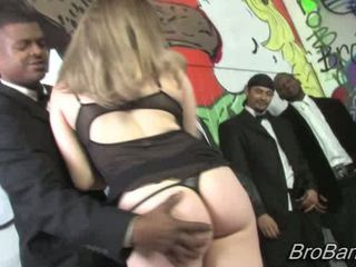 Kinzy Jo gets bukkaked by ten blacks