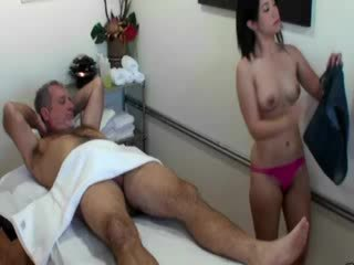 Asian masseuse sucking cock for her client