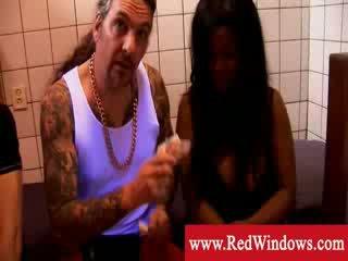 Big Titty balck whore meets white boy