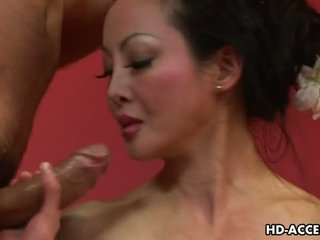 Mature Asian Angie Venus sucks and fucks good Video