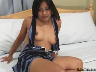 Horny young Filipina babe Alexa fucks strange foreign guy