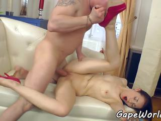 Gaping eurobabe assfucked ve fingered, porn 84