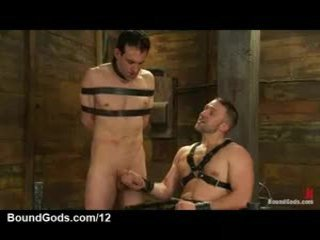 Thonged Homo Receives Handjob Until Cum From Homosexual In Leather