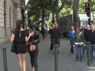 openbare sex, latex, bondage sex