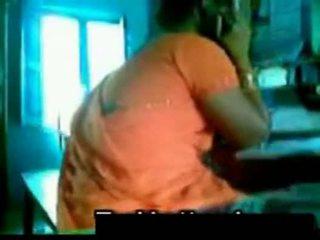 Oranssi saree aunty kanssa setä shafy