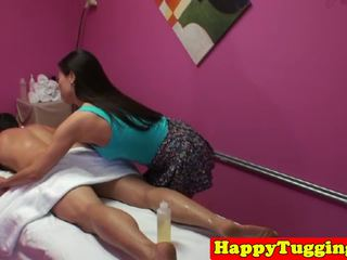 Asian Masseuse Jerking and Riding Client Cock: Free Porn 97
