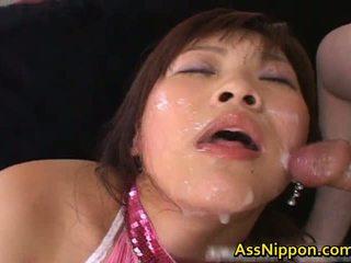 Haruka andou азіатська підліток шльондра gives