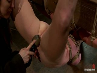 Two girls, huge susu, kaiket, 1 suspended, 1 neck tied down & arched.<br>both made to brutally cum!
