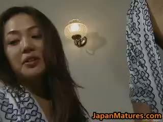 brunette, japanse, groepsseks