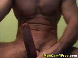 Gym Buff With A Hard Erect Cock Jacking