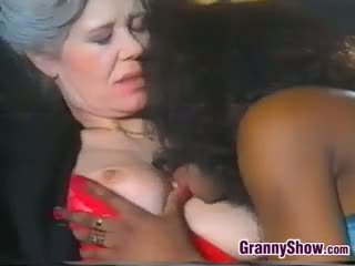 granny, lick, old+young