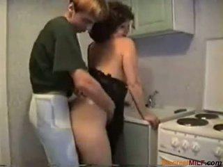 donas de casa, maduro, cozinha