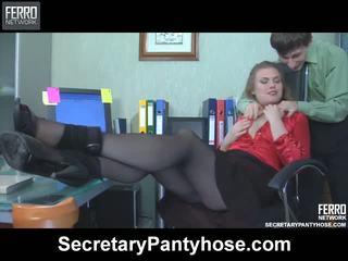 Alana charley secretária collants filme