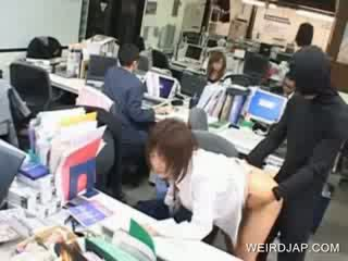 Oriental model cunt fucked at work