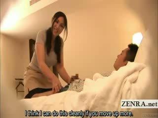 Subtitled জাপানী মিলফ masseuse indecent হোটেল মালিশ