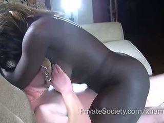 אבוני נערה fucks a אדם twice שלה גיל