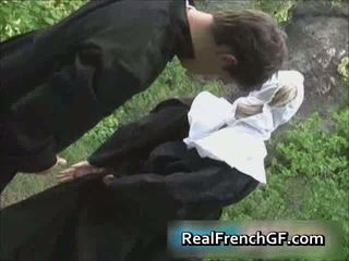 Slutty francese suora scopata fuori porno