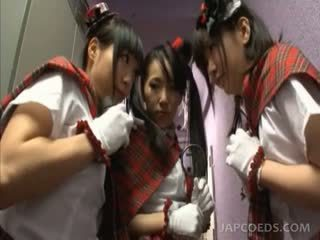 Jap Horny School Babes Using Sex Toys For The First Time