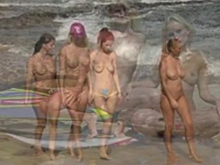 Nude Beach Fashion Show
