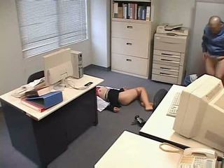 Molested śpiące biuro pani