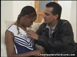 Ebony Teen Cheerleader Oral Job